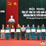 Đô Lương tổ chức Hội nghị tổng kết công tác tuyển quân năm 2017, triểm khai công tác tuyển quân năm 2018