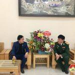 Nguyễn Đình Khương – Chủ nhiệm UBKT huyện ủy  chúc mừng Xưởng 41 nhân ngày 22/12