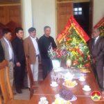 Đồng chí Trương Hồng Phúc thăm và tặng quà tại giáo xứ Bột Đà