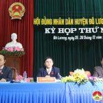 Hội đồng nhân dân huyện tổ chức kỳ họp lần thứ V, khóa XIX, nhiệm kỳ 2016-202