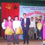 """Nhóm """"Đô Lương – Chia sẻ yêu thương"""" tổ chức đêm nhạc thiện nguyện tại xã Hồng Sơn giúp đỡ 5 gia đình có hoàn cảnh khó khăn."""