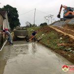 Xã Bắc Sơn làm 2 km đường bê tông theo tiêu chí nông thôn mới