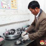 Kiểm tra đột xuất bếp ăn bán trú các trường học