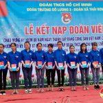Trường THPT Đô Lương III kết nạp 88 đoàn viên chào mừng 88 năm thành lập Đảng