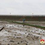 Đồng chí Ngọc Kim Nam – Chủ tịch UBND huyện kiểm tra tiến độ gieo cấy vụ Xuân