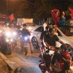 Video người dân Đô Lương ăn mừng chiến thắng của đội tuyển Việt Nam