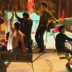 Người dân Đô Lương đổ ra đường ăn mừng chiến thắng đội tuyển Việt Nam