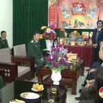 Lãnh đạo huyện thăm, chúc tết cán bộ, chiến sĩ lực lượng vũ trang trực tết