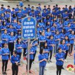 1000 em học sinh  trường THPT Đô Lương 3 đồng diễn.