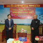 Ban đoàn kết công giáo huyện chúc mừng năm mới huyện ủy, UBND huyện
