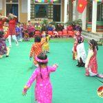 Trường mầm non  Thái Sơn tổ chức lễ hội tết và mùa xuân