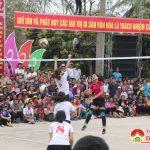 Chung kết giải bóng chuyền nữ lễ hội đền Quả Sơn năm 2018