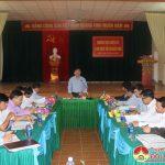 Ban thường vụ  huyện  ủy làm việc với xã Bắc Sơn