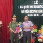 Công an huyện Đô Lương: Trao Quyết định điều động Công an chính quy giữ chức vụ Trưởng Công an xã Đại Sơn.