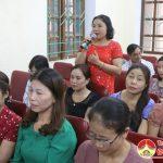 Liên đoàn lao động huyện tổ chức hội nghị giao ban, tiếp xúc, đối thoại công đoàn khối trường học
