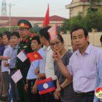 Đô Lương:  Đón hài cốt liệt sỹ tình nguyện và chuyên gia Việt Nam hy sinh tại Lào đi qua địa phận huyện