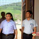 Đồng chí Ngọc Kim Nam- Bí thư Huyện ủy- Chủ tịch UBND huyện kiểm tra thực hiện kỷ cương, kỷ luật hành chính tại các xã.