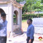 Đồng chí Ngọc Kim Nam kiểm tra tiến độ xây dựng công trình nâng cấp, tôn tạo đền Quả Sơn