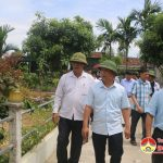 Huyện ủy- UBND huyện tổ chức đoàn tham quan học tập kinh nghiệm chương trình mục tiêu quốc gia xây dựng NTM tại huyện Can Lộc- Hà Tĩnh.