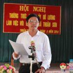 Ban thường vụ Huyện ủy làm việc với Đảng ủy Thuận Sơn