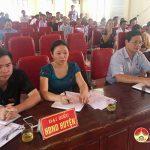 Đồng chí Nguyễn Công Châu- Phó Chủ tịch HĐND huyện tiếp xúc cử tri xã Mỹ Sơn.
