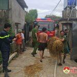 Cháy nhà chứa rơm ở Thịnh Sơn  Đô Lương