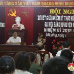 Đảng ủy cơ quan UBND huyện sơ kết giữa nhiệm kỳ thực hiện Nghị quyết Đại hội Đảng bộ huyện nhiệm kỳ 2015-2020.
