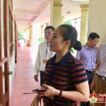 Đồng chí Nguyễn Thị Anh Quang- PCT UBND huyện kiểm tra công tác chuẩn bị trước kỳ thi tuyển sinh lớp 10 THPT năm học 2018-2019
