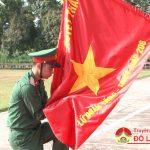 Các đồng chí lãnh đạo huyện Đô Lương dự Lễ tuyên thệ chiến sỹ mới Lữ đoàn 206