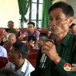 Đồng chí Nguyễn Công Châu – Phó chủ tịch HĐND huyện tiếp xúc cử tri Đại Sơn