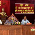 Đại biểu Quốc hội tiếp xúc cử tri tại huyện Đô Lương