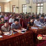 Đồng chí Lê Minh Giang- Phó bí thư, Chủ tịch HĐND huyện tiếp xúc cử tri xã Đông Sơn