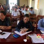 Đồng chí Nguyễn Thị Anh Quang- Phó chủ tịch UBND huyện tiếp xúc cử tri xã Thuận Sơn