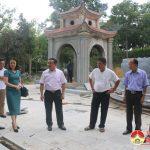 UBND huyện lấy ý kiến về tôn tạo Đền Quả Sơn
