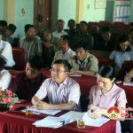 Đại biểu HĐND Tỉnh tiếp xúc cử tri xã Hồng Sơn.