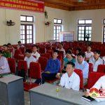 Đồng chí Ngọc Kim Nam – Bí thư huyện ủy- Chủ tịch UBND huyện tiếp xúc cử tri xã Nhân Sơn