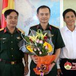 Bộ chỉ huy quân sự tỉnh bàn giao chức danh chỉ huy trưởng BCHQS huyện Đô Lương