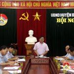UBND huyện tổ chức hội nghị sơ kết quy chế dân chủ 6 tháng đầu năm 2018.