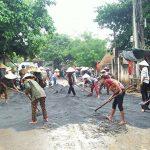 Đô Lương đào đắp, tu sửa 5,5 km đường liên xã