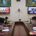 UBND huyện tham gia hội nghị trực tuyến