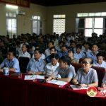 Huyện Đô Lương tổ chức bồi dưỡng kiến thức diễn tập phòng thủ năm 2018.