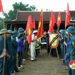 Xã Giang Sơn Tây tổ chức lế đón và an táng hài cốt  liệt sỹ Lê Văn Tuyết
