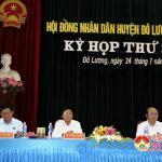 Đô Lương tổ chức kỳ họp thứ 6 HĐND huyệnkhóa XIX nhiệm kì 2016 – 2021