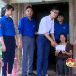 Huyện đoàn Đô Lương thăm tặng 33 suất quà các gia đình chính sách