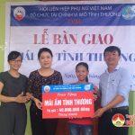 Quỹ tình thương TYM, chi nhánh Đô Lương: bàn giao nhà mái ấm tình thương cho chi Đậu Thị Lan ở xã Tràng Sơn
