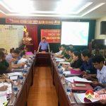 Diễn tập Hội nghị Ban chỉ đạo Phòng không nhân dân huyện triển khai  công tác Phòng không nhân dân