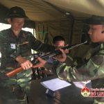 Diễn tập giao nhận quân dự bị động viên