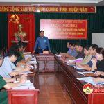 UBND huyện tổ chức HN triển khai các biện pháp chuyển địa phương vào trạng thái khẩn cấp về quốc phòng.