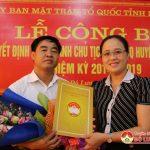 Đô lương:  Lễ công bố Quyết Định Trưởng ban dân vận giữ chức vụ Chủ tịch UBMTTQ huyện