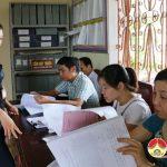 Thanh tra huyện kiểm tra đột xuất công tác kiểm tra tiếp dân tại các xã